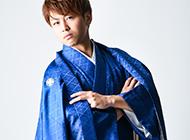成人式の紋付袴レンタル メンズ袴のモデル撮影